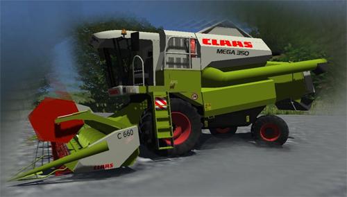 CLAAS Mega 350 (beta) + C660 Cutter